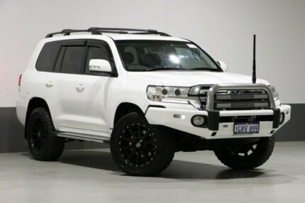 2015 Toyota Landcruiser VDJ200R MY16 GXL (4x4) White 6 Speed Automatic Wagon Bentley Canning Area Preview