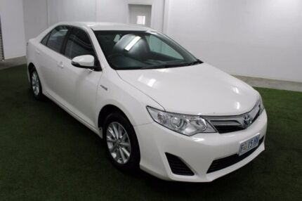 2014 Toyota Camry AVV50R Hybrid H White 1 Speed Constant Variable Sedan Hybrid Moonah Glenorchy Area Preview
