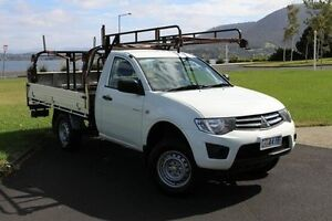 2011 Mitsubishi Triton MN MY12 GLX White 5 Speed Manual Cab Chassis Invermay Launceston Area Preview