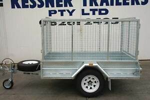 KESSNER TRAILER 7x4 GALV SINGLE AXLE TRAILER WITH CAGE + RAMPS Pooraka Salisbury Area Preview