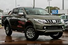 2015 Mitsubishi Triton MQ MY16 GLS Double Cab Earth Green 6 Speed Manual Utility Wilson Canning Area Preview