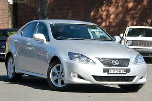 2007 Lexus IS250 GSE20R Prestige Silver 6 Speed Sequential Auto Sedan Zetland Inner Sydney Preview