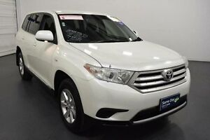 2013 Toyota Kluger GSU45R MY13 Upgrade KX-R (4x4) 5 Seat White 5 Speed Automatic Wagon Moorabbin Kingston Area Preview