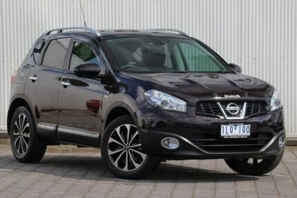 2013 Nissan Dualis J10W Series 4 MY13 Ti-L X-tronic AWD Maroon 6 Speed Constant Variable Hatchback Dandenong Greater Dandenong Preview