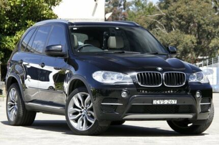 2012 BMW X5 E70 MY10 xDrive 30D Black 8 Speed Sequential Auto Wagon Burwood Burwood Area Preview