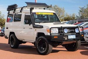 2011 Toyota Landcruiser VDJ78R MY10 Workmate Troopcarrier French Vanilla 5 Speed Manual Wagon Mindarie Wanneroo Area Preview