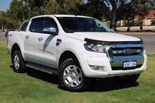 2015 Ford Ranger PX MkII XLT Double Cab White 6 Speed Sports Automatic Utility Wangara Wanneroo Area Preview