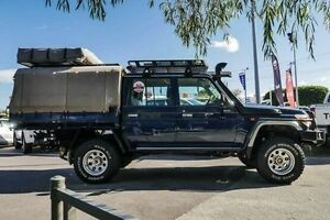 2014 Toyota Landcruiser VDJ79R MY13 GXL Double Cab Midnight Blue 5 Speed Manual Cab Chassis