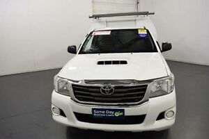 2012 Toyota Hilux KUN16R MY12 SR White 5 Speed Manual Cab Chassis Moorabbin Kingston Area Preview