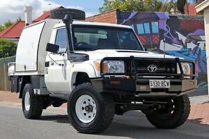 2010 Toyota Landcruiser VDJ79R MY10 Workmate White 5 Speed Manual Cab Chassis Glenelg Holdfast Bay Preview