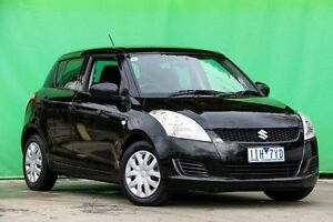 2012 Suzuki Swift FZ GA Black 4 Speed Automatic Hatchback Ringwood East Maroondah Area Preview