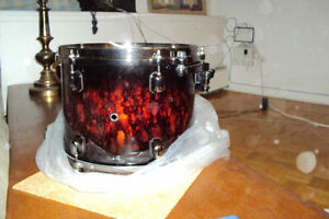 "Tama Starclassic Red Lava 12"" tom, case, cymbals, parts etc."