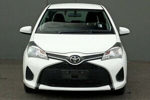 2015 Toyota Yaris NCP130R Ascent White 5 Speed Manual Hatchback Cranbourne Casey Area Preview