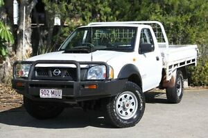 2010 Nissan Navara D22 MY2010 DX White 5 Speed Manual Cab Chassis Underwood Logan Area Preview