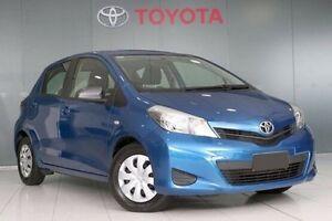 2013 Toyota Yaris NCP130R YR Caribbean Blue 4 Speed Automatic Hatchback Glebe Inner Sydney Preview