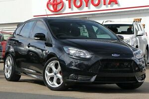 2013 Ford Focus LW MKII ST Black/Grey 6 Speed Manual Hatchback Woolloongabba Brisbane South West Preview