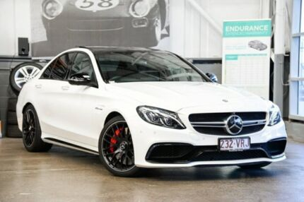 2015 Mercedes-Benz C63 W205 806MY AMG SPEEDSHIFT MCT S White 7 Speed Sports Automatic Sedan Albion Brisbane North East Preview