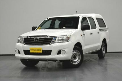 2014 Toyota Hilux GGN15R MY14 SR Double Cab 4x2 White 5 Speed Automatic Utility Brooklyn Brimbank Area Preview