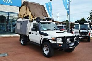 2010 Toyota Landcruiser VDJ79R 09 Upgrade Workmate (4x4) White 5 Speed Manual Cab Chassis Morley Bayswater Area Preview