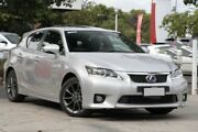 2012 Lexus CT200H ZWA10R MY13 F Sport Silver Metallic 1 Speed Constant Variable Hatchback Hybrid Adelaide CBD Adelaide City Preview