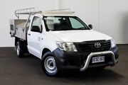 2014 Toyota Hilux TGN16R MY14 Workmate 4x2 Glacier White 5 Speed Manual Cab Chassis Myaree Melville Area Preview