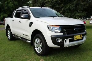 2015 Ford Ranger PX Wildtrak Double Cab White 6 Speed Sports Automatic Utility Hamilton East Newcastle Area Preview