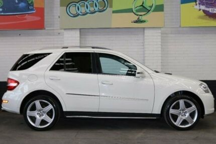 2010 Mercedes-Benz ML350 W164 MY10 AMG Sports Calcite White 7 Speed Auto Seq Sportshift Wagon Southbank Melbourne City Preview