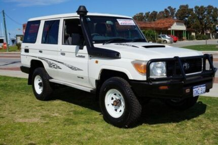 2012 Toyota Landcruiser VDJ76R MY10 Workmate White 5 Speed Manual Wagon Pearsall Wanneroo Area Preview