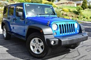 2014 Jeep Wrangler JK MY2014 Unlimited Sport Blue 5 Speed Automatic Softtop St Marys Mitcham Area Preview