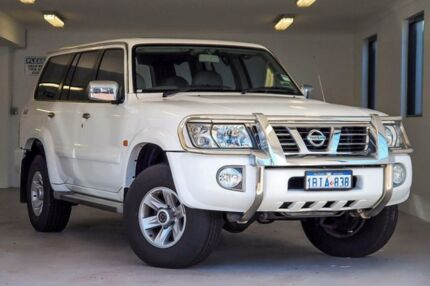2002 Nissan Patrol GU III MY2002 TI White 5 Speed Sports Automatic Wagon Willagee Melville Area Preview