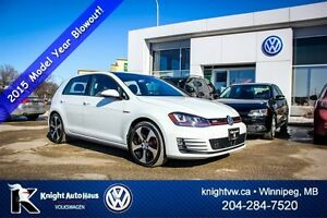 2015 Volkswagen Golf GTI Autobahn w/ Leather + Tech Pkg