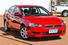 2012 Mitsubishi Lancer CJ MY13 ES Red 6 Speed Constant Variable Sedan East Rockingham Rockingham Area Preview