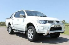2012 Mitsubishi Triton MN MY12 GLX-R (4x4) White 5 Speed Manual 4x4 Dual Cab Utility South Maitland Maitland Area Preview
