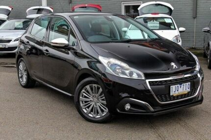 2015 Peugeot 208 A9 MY15 Allure Black 6 Speed Automatic Hatchback