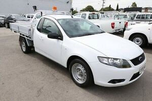 2010 Ford Falcon FG Super Cab White 4 Speed Sports Automatic Cab Chassis Heatherton Kingston Area Preview
