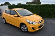 2016 Hyundai Accent RB3 MY16 Active Yellow 6 Speed Manual Hatchback St Marys Mitcham Area Preview