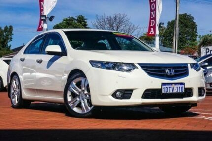 2011 Honda Accord Euro CU MY11 Luxury Navi White Orchid 5 Speed Automatic Sedan Myaree Melville Area Preview