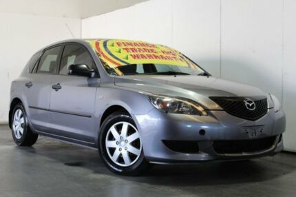 2004 Mazda 3 BK Neo Grey 5 Speed Manual Hatchback Underwood Logan Area Preview