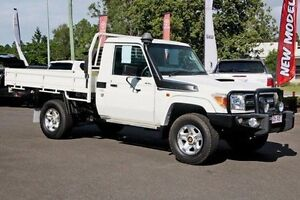 2013 Toyota Landcruiser VDJ79R MY13 GXL White 5 Speed Manual Cab Chassis Monkland Gympie Area Preview