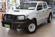 2015 Toyota Hilux KUN26R MY14 SR Double Cab White 5 Speed Manual Utility Belconnen Belconnen Area Preview