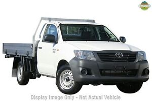 2013 Toyota Hilux TGN16R MY12 Workmate White 5 Speed Manual Cab Chassis Upper Ferntree Gully Knox Area Preview