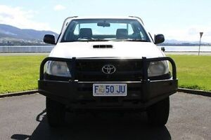 2010 Toyota Hilux KUN16R MY10 SR White 5 Speed Manual Cab Chassis Invermay Launceston Area Preview