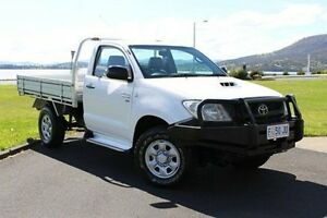 2010 Toyota Hilux KUN26R MY10 SR White 5 Speed Manual Cab Chassis Invermay Launceston Area Preview