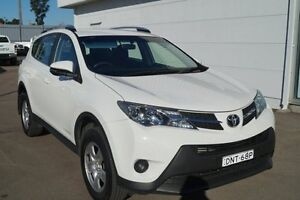 2014 Toyota RAV4 ALA49R MY14 GX AWD White 6 Speed Sports Automatic Wagon Cardiff Lake Macquarie Area Preview