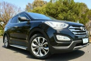 2012 Hyundai Santa Fe DM MY13 Highlander Black 6 Speed Sports Automatic Wagon Derwent Park Glenorchy Area Preview