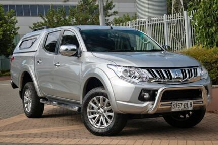 2015 Mitsubishi Triton MQ MY16 GLS Double Cab Silver 6 Speed Manual Utility Wayville Unley Area Preview