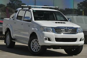 2012 Toyota Hilux KUN26R MY12 SR5 (4x4) Glacier White 4 Speed Automatic Dual Cab Pick-up Old Guildford Fairfield Area Preview