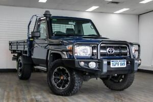 2015 Toyota Landcruiser VDJ79R GXL Blue 5 Speed Manual Cab Chassis
