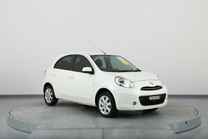 2011 Nissan Micra K13 TI White 4 Speed Automatic Hatchback Old Guildford Fairfield Area Preview