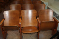 Church Wooden Theater Style Chairs